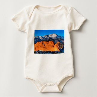 America's Mountain at Sunrise Baby Bodysuit