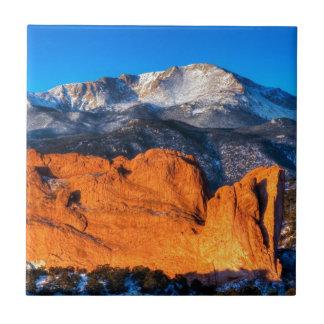 America's Mountain at Sunrise Ceramic Tile