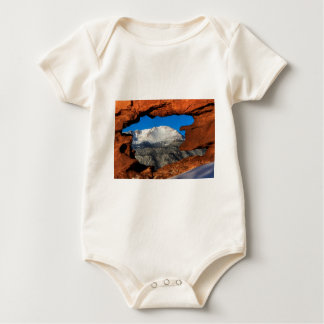 America's Mountain Framed by Sandstone Baby Bodysuit