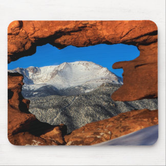 America's Mountain Framed by Sandstone Mouse Pad