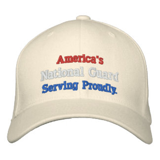 America's National Guard. Embroidered Baseball Caps