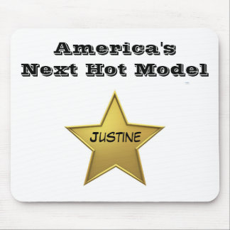 America's Next Hot Model Mp-Justine Mouse Pad