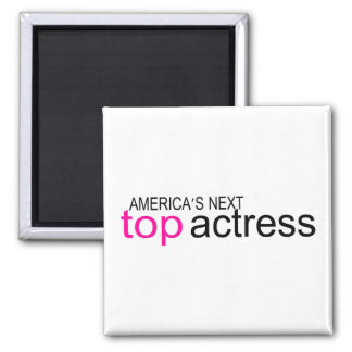 Americas Next Top Actress 2 Inch Square Magnet