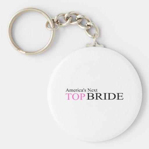 America's Next Top Bride Basic Round Button Keychain