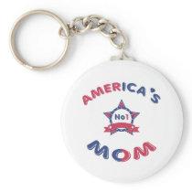 America's No1 Mom Keychain