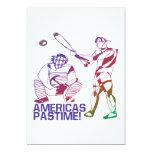 "Americas Pastime 5"" X 7"" Invitation Card"