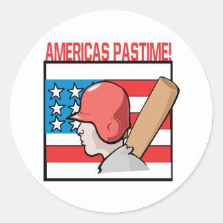 Americas Pastime Classic Round Sticker