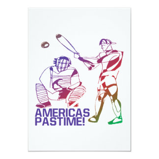 Americas Pastime 5x7 Paper Invitation Card