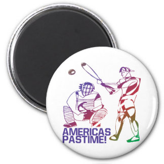 Americas Pastime 2 Inch Round Magnet