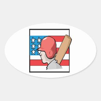 Americas Pastime Oval Sticker