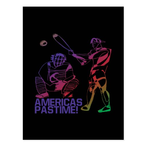 Americas Pastime Postcard