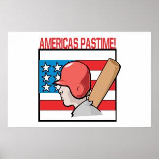 Americas Pastime Print