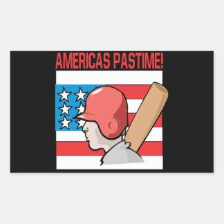 Americas Pastime Rectangular Sticker