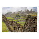 Américas, Perú, Machu PIcchu. El antiguo Tarjeta De Felicitación