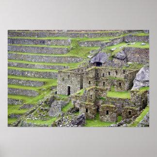 Américas, Perú, Machu PIcchu. Los 2 antiguos Póster