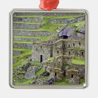 Americas, Peru, Machu PIcchu. The ancient 2 Metal Ornament