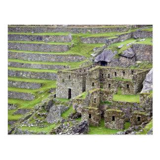 Americas, Peru, Machu PIcchu. The ancient 2 Postcard