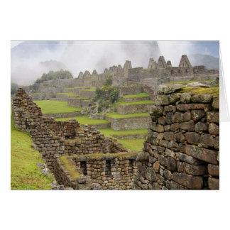 Americas, Peru, Machu PIcchu. The ancient Card