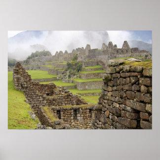 Americas, Peru, Machu PIcchu. The ancient Poster