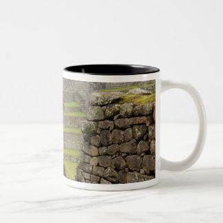 Americas, Peru, Machu PIcchu. The ancient Two-Tone Coffee Mug