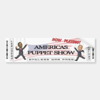 Americas Puppet Show Car Bumper Sticker
