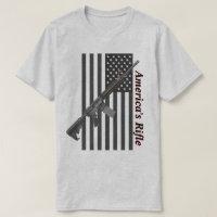 Americas Rifle USA Flag Favorite Rifle Light Color T-Shirt