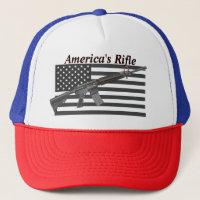 Americas Rifle USA Flag Favorite Rifle MSR AR15 Trucker Hat