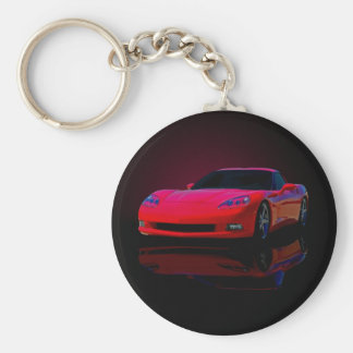 Americas Sports Car Keychain