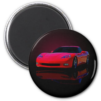 Americas Sports Car 2 Inch Round Magnet
