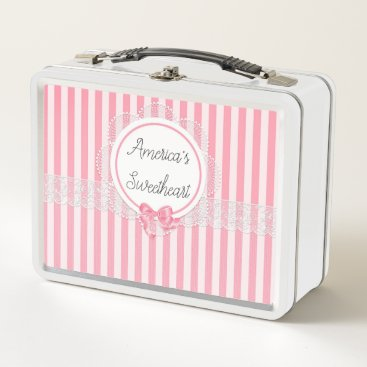 Beach Themed America's Sweetheart Metal Customizable Lunch Box