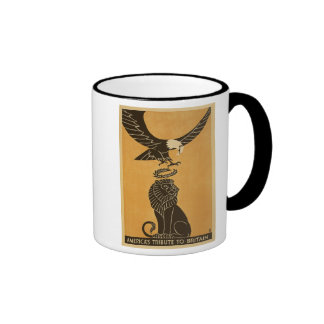 Americas Tribute To Britain WWI Britain Propaganda Ringer Coffee Mug
