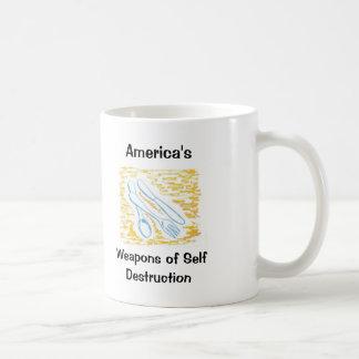 America's Weapons of Self Destruction Classic White Coffee Mug