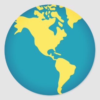Americas World Emoji Classic Round Sticker