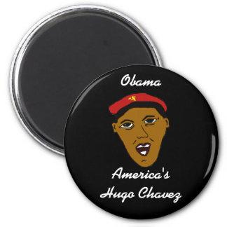 americashugochavez, Obama, America'sHugo Chavez 2 Inch Round Magnet