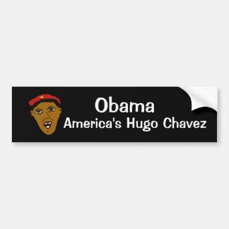americashugochavez, Obama, Hugo Chavez de América Pegatina Para Auto