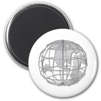 AmericasOnGlobe Fridge Magnet