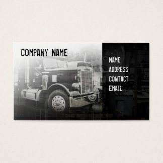 americkan classick black truck business card