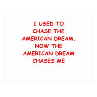 americqan dream postcard