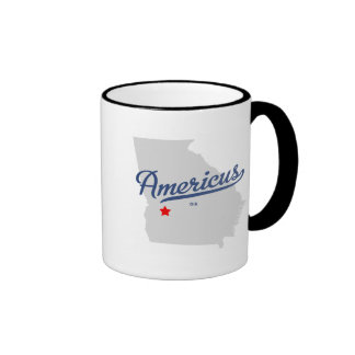 Americus Georgia GA Shirt Ringer Mug