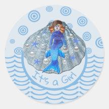 Americus Mermaid Shell It's a Girl