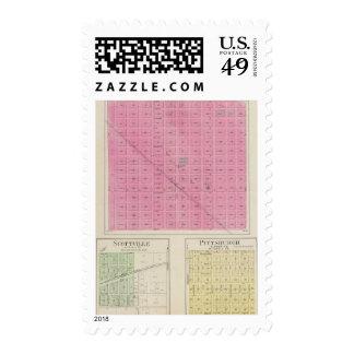 Americus, Scottville, Pittsburgh, Kansas Stamps