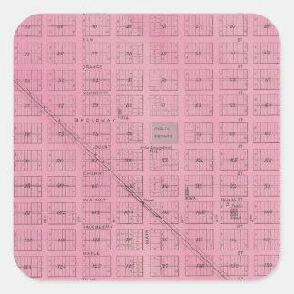 Americus, Scottville, Pittsburgh, Kansas Square Sticker