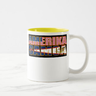 Amerika Samoa Two-Tone Coffee Mug