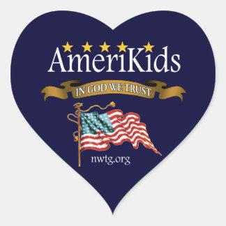 AmeriKids Heart Sticker
