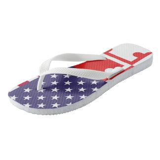 Ameri'Land Flag FlipFlops Flip Flops