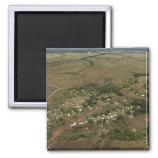 Amerindan Village. Seasonally-flooded 2 Inch Square Magnet