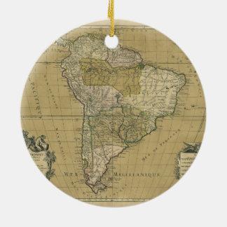 Amerique Meridionale South America Map (1783) Ceramic Ornament