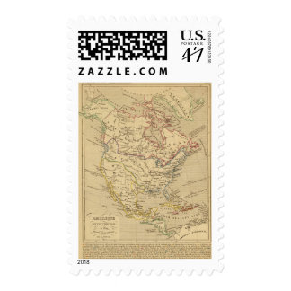 Amerique Septentrionale en 1840 Postage