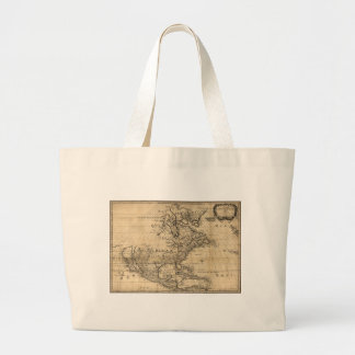 Amérique Septentrionale North America Map (1650) Jumbo Tote Bag