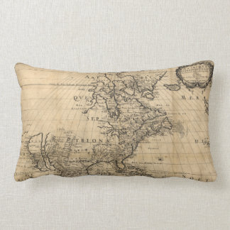 Amérique Septentrionale North America Map (1650) Lumbar Pillow